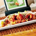 REGAL FOWL: Arka's menu includes the royally named 'his majesty's chili chicken.'