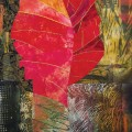 FINE FIBER: Pat Pauly's 'Pink Leaf' shows as part of the 'Quilt National.'