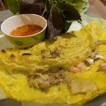 The banh xeo is the star at Dinh Cong Trang.
