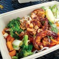THINKING INSIDE THE BOX: The dishes at Asian Box come in convenient compostable paper containers.
