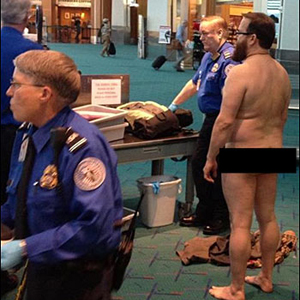 Man Gets Naked in Security Search before Flight to San Jose