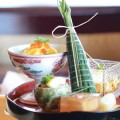 THE COMPOSED PLATE:  Mitsunobu's kaiseki-style offerings are as eye-catching as they are delicious. Photograph by Tyler Ngo
