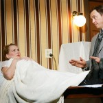 TRUST ME, I'M A DOCTOR: Jeffrey Bracco offers some healing hands to Sarah Moser in City Lights' production of 'In the Next Room'