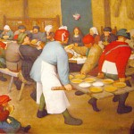 FEASTING: Pieter Breughel the Elder's 'The Peasant Wedding' (1568) vividly depicts the uses and rituals of food in early modern Europe.