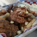 The Soulnese sampler includes fried chicken, garlic fries and pork strips