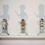 Schwarzenegger, Obama and Palin are represented as paper dolls in Kathy Aoki's exhibition at Museum of Art.