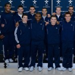 San Jose resident and former Stanford gymnast Josh Dixon, top left, will compete at the gymnastics Olympic Trials, June 28 to July 1. // Photo courtesy of USA Gymnastics.