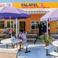 PITA PALACE: Crowds gather daily for lunch at Falafel STOP.
