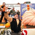 LARGE AND IN CHARGE: Leonardo Urena with last's year's winning giant gourd.
