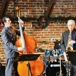 ALL THAT JAZZ: Saxophonist Eric Raeburn and bassist Gus Kambeitz jam for 'Big Band Christmas Surprise!' at Theatre on San