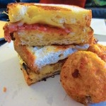 WESTERN FARE: The Butch Cassidy sandwich with Tater Balls. Photograph by Amy Buchanan