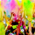 Color Me Rad is a 5k race where participants get doused in colored corn starch while they run.