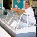 ICE CREAM DREAMER: Chris Leahy just opened '50s-style Mission City Creamery. Photograph by Liz Wassmann
