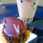 TREAT TANDEM: The chocolate cake and Ceylon tea at Amor Cafe make a sweet combination.