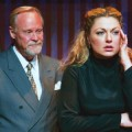 HERE COMES THE JUDGE: Hedda Gabler (Hayley Galbraith) isn't sure what to make of the attentions of Judge Brack (Steve Lambert). Photograph by Robyn Winslow