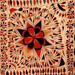 WOVEN WONDERS: The museum's current show features Indian folk textiles; pictured is a 20th-century Kantha cloth (in detail).