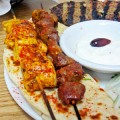 STAKE HOUSE: Souvlaki specializes in meat skewers.