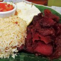 ISLAND BACON: The tocino at Tapsilog Bistro comes with garlic rice and marinated, sweet bacon.