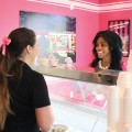 THE TOWN: Ibi Oluwole (right), a retail business owner at the Willow Glen Town Center, surveys her options with Erica Wiltz at Willow Glen Frozen Yogurt and Ice Cream Co. Photograph by Dan Pulcrano