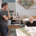Facebook CEO Mark Zuckerberg (left) with architect Frank Gehry. Photo courtesy of Facebook.