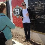 Matt Peyton talks about the Groundwerx Program during a San Jose Walk and Talk tour. Photo by Celeste Lodge.