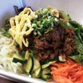 KOREAN SPECIAL: The beef bibimbap at K Zzang falls somewhere between a salad and a stir fry. Photograph by Amy Buchanan