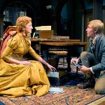 A SURRENDERED WIFE?  Candida (Sharon Rietkerk) must decide to stay with her stuffy minister husband or take up with young poet Eugene Marchbanks (Tim Homsley) in San Jose Rep's 'A Minister's Wife.' Photograph by Kevin Berne