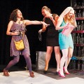 BRIDAL PARTY: Marnie (Hannah Larson), Melissa (Akemi Okamura), and Linda (Sara Luna) start off celebrating but end up questioning in 'The Drunken City.' Photograph by Jeff Crook