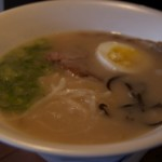 Cuisine's kindest course: a steaming bowl of Japanese Hakata ramen soup.