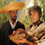 Death (Eddie Aguirre) is one the visitors who asks Macario (Hugo Carbajal) for a share of his meal.