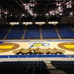 San Jose State's basketball court has a fresh new look. (Photo courtesy of San Jose State Athletics)