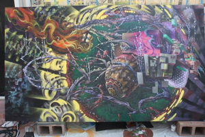 Local Artist WäDL in 'Spiral: Art of the Street' at the Triton Museum