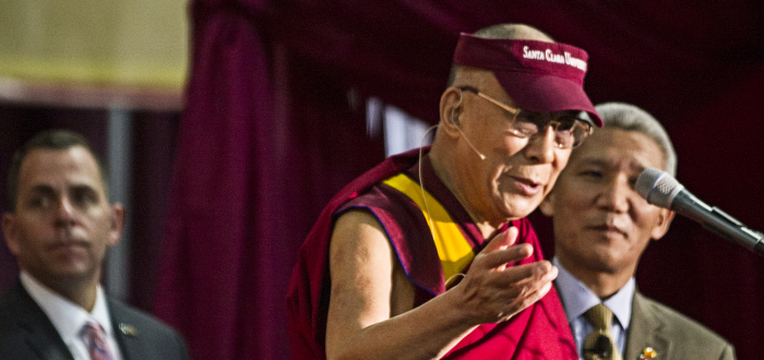 Dalai Lama Stresses Compassion and Kindness at Santa Clara University