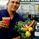 A HEARTY TOAST: The Liquid Menu chef and owner Jay Essadki separates his offerings by strictly juice or vegetable meals in a cup.