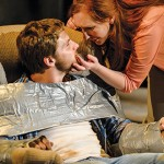 SEX, LIES AND DUCT TAPE: Nan (Sara Renee Morris) tapes up her abusive husband, Kyle (Max Sorg), but finds it's not so easy to leave him in 'Exit, Pursued by a Bear.'