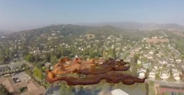 Video: Bacon Festival of America Sends Bacon into 'Space'
