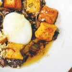 Zola's ricotta gnocchi combines crispy with melt in your mouth flavor with butter, mushroom sauce and broken egg yolk. Photo by Ngoc Ngo.