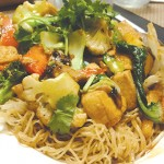 Green Barn goes the extra mile to make vegetarian dishes like chow mein with bok choy and zucchini deliciously filling.
