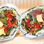 Perhaps the best roll on Sushirrito's menu is the Geisha's Kiss, served with yellowfin tuna.