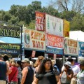 Food options are everywhere at the annual Gilroy Garlic Festival.  (Photo courtesy of the Gilroy Garlic Festival.)