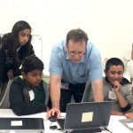 Itzik Gilboa of CitizenTeachers teaches his students how to utilize technology.