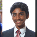 2016 Davidson Fellows (left to right) Maya Varma, Raghav Ganesh and Nicolas Poux and all conducted groundbreaking studies that will earn them scholarships.