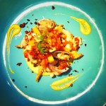 MARISCOS Y MAIZE: A creation by local chef, Marshall Reid.