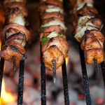 Authentic veggie and meat kabobs will be served at the festival.