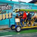 San Jose's newest attraction the brew bike, takes visitors on a brewery tour around the city. (Photo Courtesy of San Jose Brew Bike)