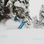 Jonny Moseley skiing for Warren Miller films at Squaw Valley