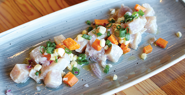 Forthright Oyster Bar and Kitchen's Peruvian ceviche wins on taste and presentation.