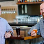 Scott and Kevin Youkilis (right) created a brewpub trifecta: good beer, bites and TVs for the big game. Photo courtesy of Loma Brewing.