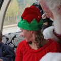 Children will have the opportunity to meet Santa at the North Pole when he Boards the train. (Photo Courtesy of The Polar Express Train Ride)