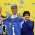 Brent Brennan takes over the San Jose State football program after coaching receivers at Oregon State since 2011. (Photo courtesy of SJSU)